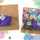 Purple color Large Satin Scrunchie Ponytail Holder Handmade
