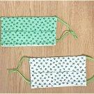 Reusable Three Leaf Clovers Washable Cotton Fabric Face Mask Set Handmade