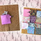 Pink with White Polka Dots Mini Fabric Zipper Pouch Handmade