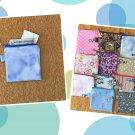 Blue Tie Dye Mini Fabric Zipper Pouch Handmade