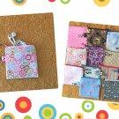 Pink Medallion Flowers Mini Fabric Zipper Pouch Handmade