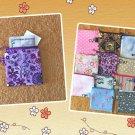 Purple Wild Flowers Mini Fabric Zipper Pouch Handmade