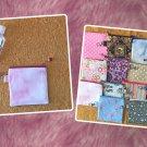 Dark Pink Tie Dye Mini Fabric Zipper Pouch Handmade