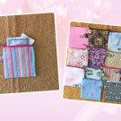 Pink Retro Stripes Mini Fabric Zipper Pouch Handmade