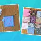 Pink Flamingo Mini Fabric Zipper Pouch Handmade