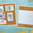 Assorted Birds and Waterfowl Birding Postcards Set of 5 Handmade