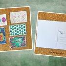 Assorted Tropical Theme Postcards Set of 5 Handmade