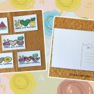 Assorted Peace Love Summer Fruit and Florals Postcards Set of 5 Handmade