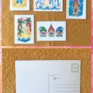 Assorted Aloha Summer Postcards Set of 5 Handmade