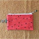 Watermelon Seeds Fabric Zipper Pouch Handmade