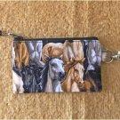 Wild Horses Fabric Zipper Pouch Handmade