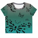 Butterfly Tattoos All-Over Print Crop Top Tee Small