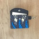 Blue and Yellow African Fashion Fabric Mini Card Wallet Handmade