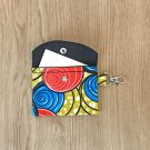 Red and Blue African Fashion Fabric Mini Card Wallet Handmade