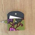 Green and Black African Fashion Fabric Mini Card Wallet Handmade