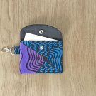 Blue and Purple African Fashion Fabric Mini Card Wallet Handmade