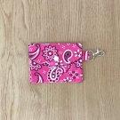 Pink Paisley Bandana Fashion Fabric Mini Card Wallet Handmade