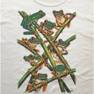 Green Tree Frogs Long Sleeve Cotton Unisex T-shirt Large