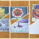 Assorted Wildlife and Flowers Summer Garden Postcards Set of 5