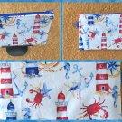 Lighthouse Scenery Fabric Zipper Pouch Handmade