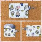 Multi Color Strawberry Fruit Fashion Fabric Mini Card Wallet Handmade