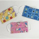 Reusable Nursery Patterns Washable Cotton Fabric Face Mask for Kids Small Handmade