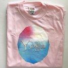 Yoga Word Art Cotton Blend Unisex T-shirt Large