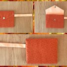 Brown Speckled Pattern Fabric Wristlet Pouch Handmade