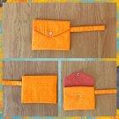 Art Deco Pattern Fabric Wristlet Pouch Handmade