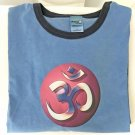 Yoga Rainbow OM Pigment Dyed Ringer T-shirt XL