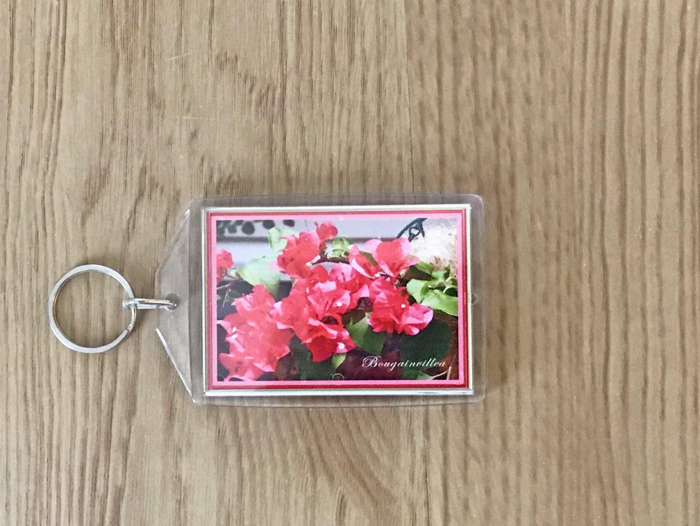 Bougainvillea Flower Key Chain Accessory