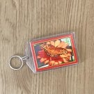 Insect Garden Orange Butterfly Key Chain Accessory