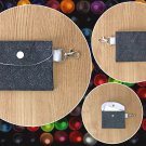 Stars and Speckles pattern Fashion Fabric Mini Card Wallet Handmade