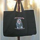 Bull dog with Attitude Jumbo Shopping Tote Bag