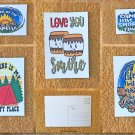 Assorted Outdoor Adventures Summer Camp Camping Postcards Set of 5