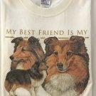My Best Friend is my Shetland Sheepdog Long Sleeve Cotton Unisex T-shirt Large