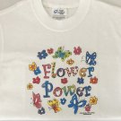 Whimsical Butterfly Flower Power Cotton Blend Youth T-shirt Small