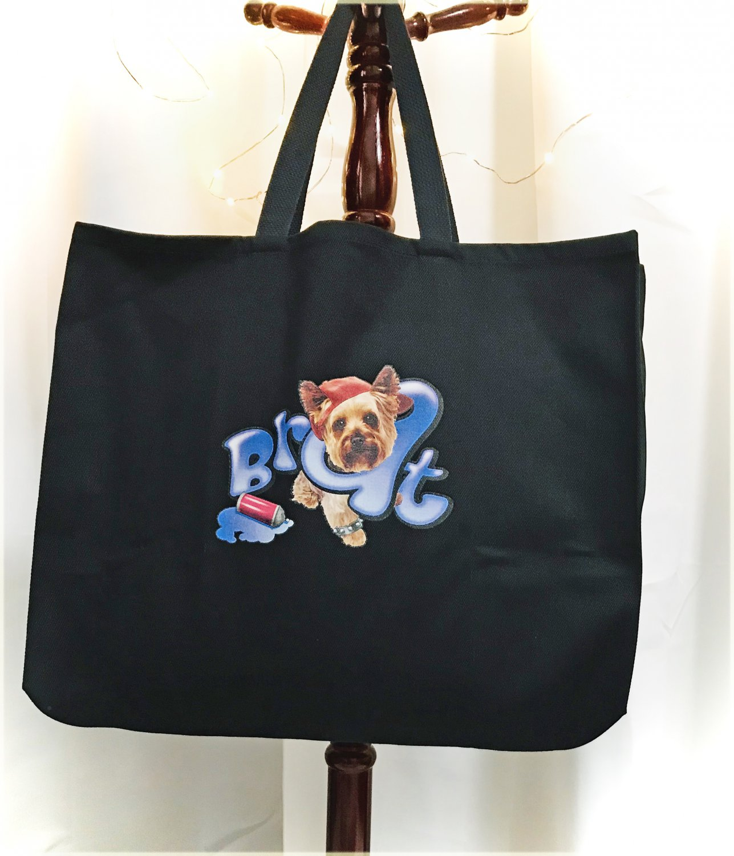 Yorkshire Terrier Yorkie Brat with Attitude Jumbo Shopping Tote Bag