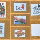 Assorted Fall Scenery Autumn Harvest Thanksgiving Message Greetings Postcards Set of 6