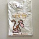 Funny Keep It Simple Monkey Counting Bananas T-Shirt Medium
