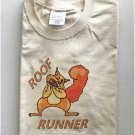Funny Crazy Roof Runner Squirrel T-Shirt Large