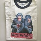 Funny Drinking Where's The Party Monkey Ringer T-shirt XL