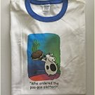 Funny Who Ordered The Poo Platter Dinner Cow Ringer T-shirt XL