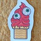 Halloween 2 Red Eyeballs Monster Ice Cream Sticker