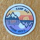 Recreation Outdoor Camp Day Camp Night Sticker