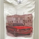Classic Red Vintage Muscle Car Cotton Unisex T-Shirt Large