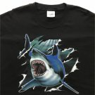 Rip Out Great White Shark Cotton Unisex T-Shirt 2XL