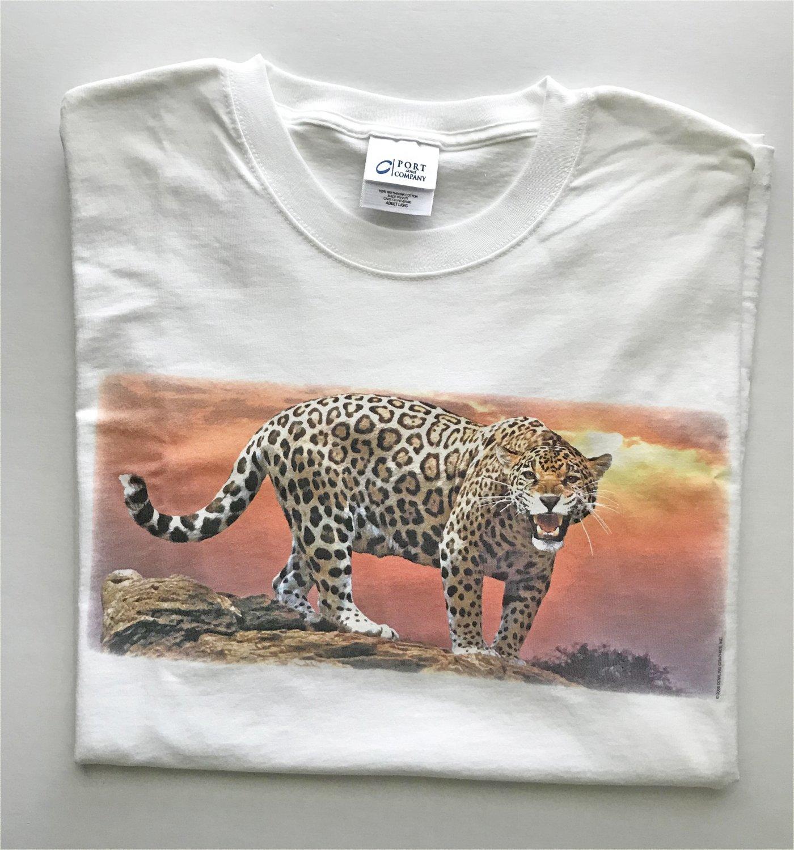 Zoo Animal Jaguar Wild Cat Unisex T-Shirt Large