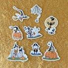 Halloween Gnomes 8 piece Sticker Set