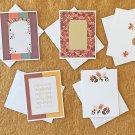 Fall Autumn Season Note cards Set with envelopes Set of 5